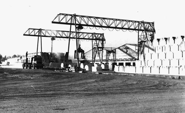 Kalksandsteinwerk in Holsterhausen: An der B 224 wurden ab 1955 ...